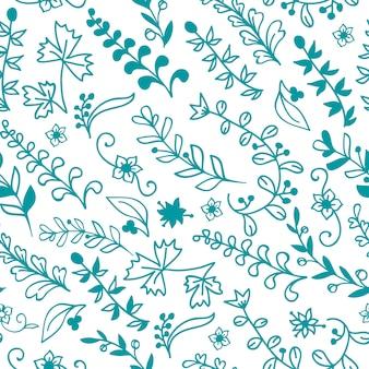 美しい花のシームレスなパターン。デザインや招待状の要素の要素