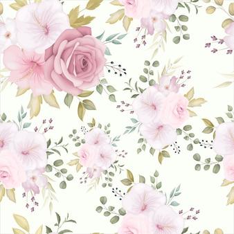Красивый цветочный фон с пыльным розовым цветком