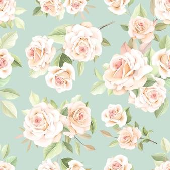 아름다운 꽃 원활한 패턴