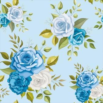 美しい花のシームレスなパターン