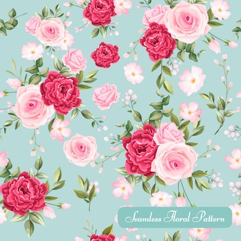 Beautiful floral seamless pattern