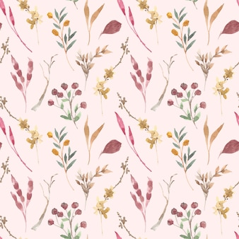 Beautiful floral soft pink colors seamless pattern