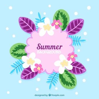 Красивый цветочный летний фон