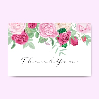 Beautiful floral thank you invitation card and templates
