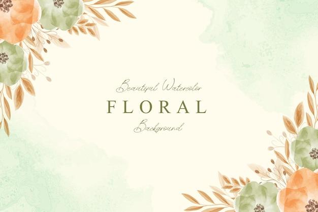 Красивый цветочный акварельный фон шаблона