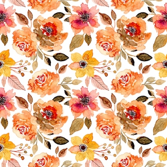 Beautiful floral watercolor seamless pattern