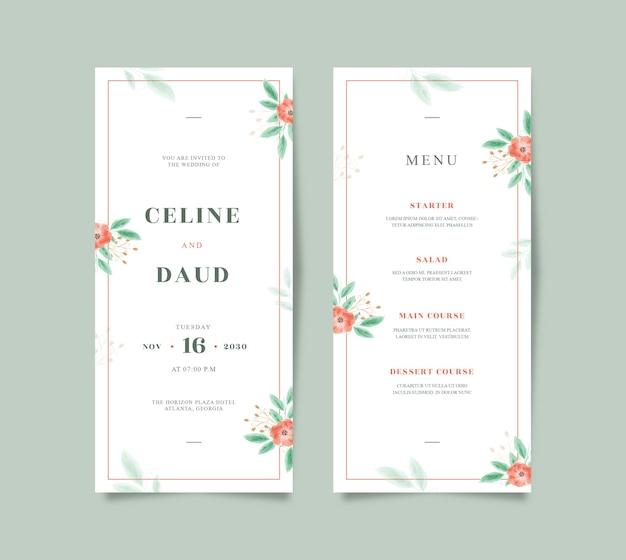 아름다운 꽃 수채화 결혼식 편지지