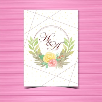 Beautiful floral wedding badge