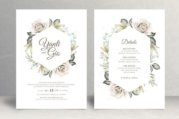 아름다운 꽃 웨딩 카드 테마