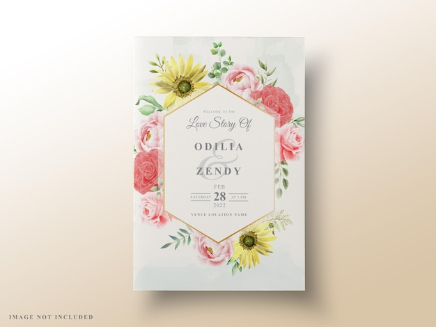 Красивые цветочные свадебные приглашения