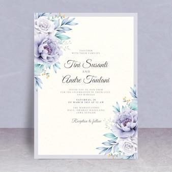 美しい花の結婚式の招待状のテーマ