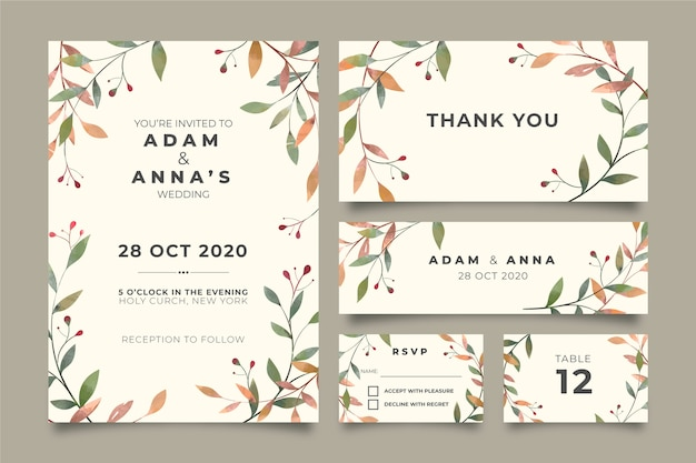 Beautiful floral wedding stationery