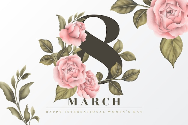 Beautiful floral women's day background