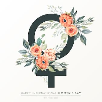 美しい花の女性の日の背景