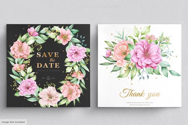 Красивый цветочный венок и букет с элегантным цветочным
