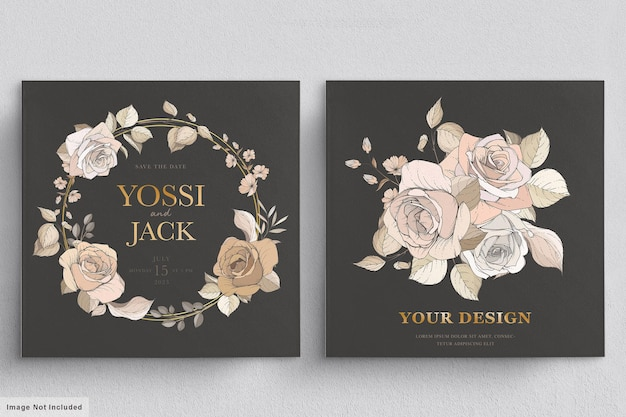 Beautiful floral wreath and bouquet with elegant floral