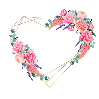 Beautiful floral wreath for card or wedding invitation