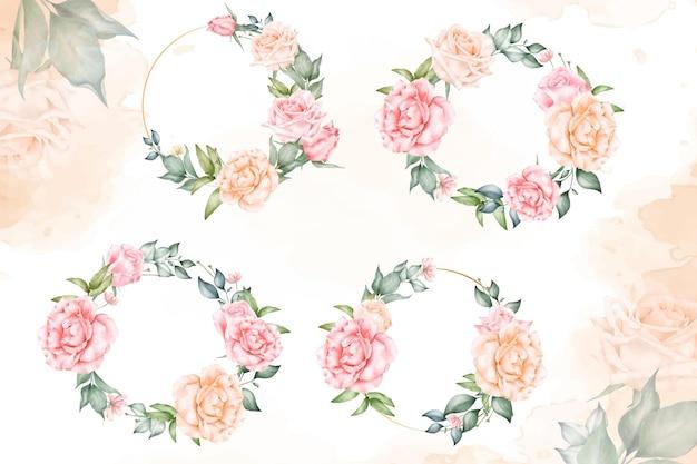 아름다운 꽃 화환 컬렉션