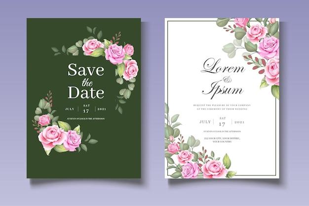 Красивый цветочный венок свадебный набор карт