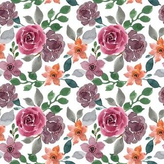 Beautiful florall watercolor seamless pattern