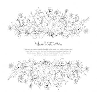 Beautiful flower arrangement invitation