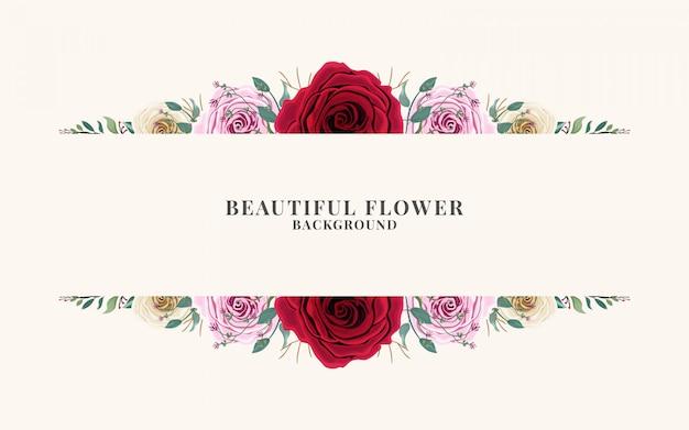 아름 다운 꽃 배경