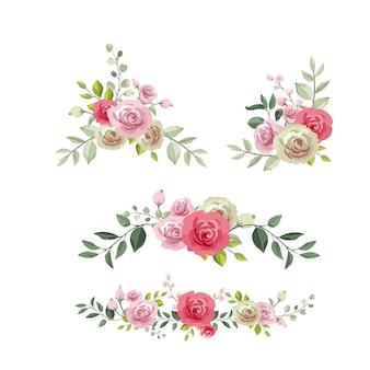 美しい花のバケツ