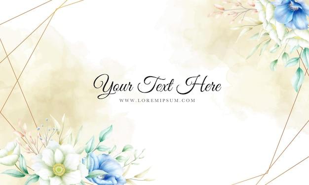 부드러운 꽃과 아름 다운 꽃 프레임 배경