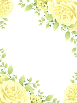 Beautiful flower frame background