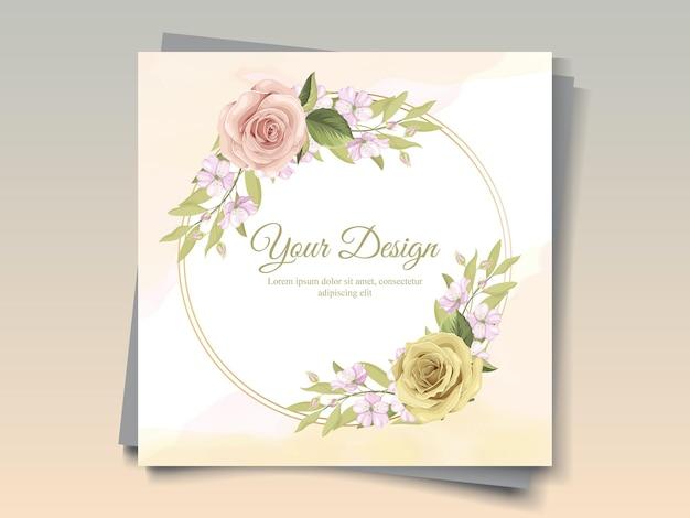 인사말 카드 장식을위한 아름다운 꽃 프레임