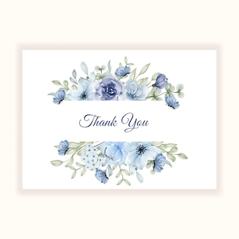 Beautiful flower frame for thanks card