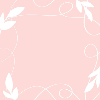 잎과 선이 있는 아름다운 꽃 프레임 추상 식물 꽃 텍스트를 위한 공간
