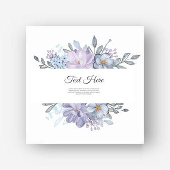 ライラックと美しい花のフレーム