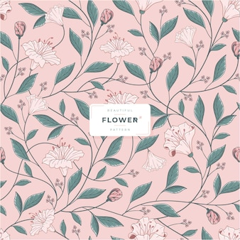 Beautiful flower pattern vector template