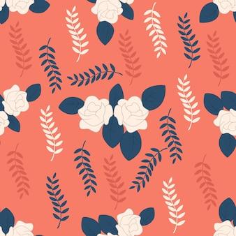 美しい花のシームレスなパターンの背景