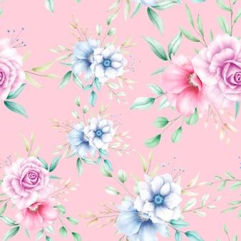 아름 다운 꽃 원활한 패턴