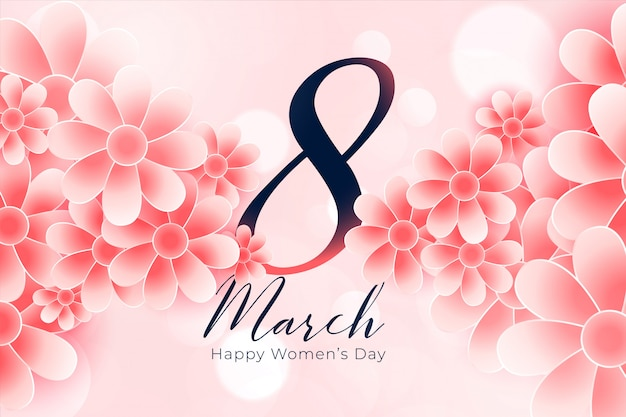 Beautiful flower style happy womens day background