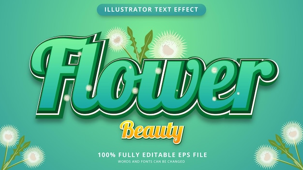 Beautiful flower text effect eps file