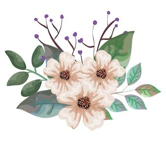 美しい花と葉の装飾