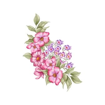 特別な日のための美しい花と葉の花束