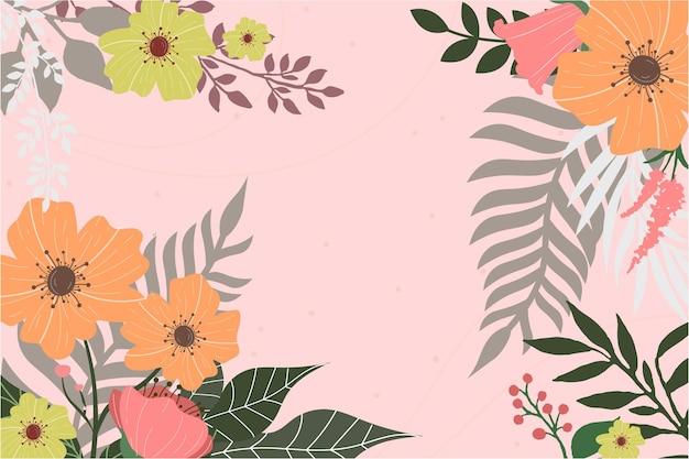 美しい花の背景デザイン