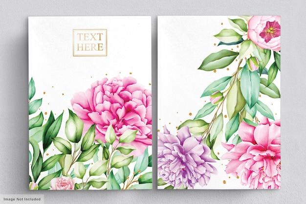 美しい花の花束水彩セット
