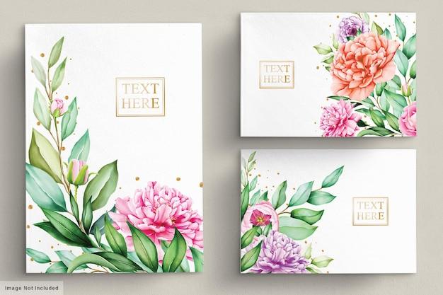 Красивые цветочные букеты акварельный набор