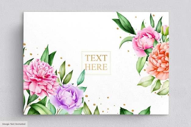 Beautiful flowers bouquets   watercolor set