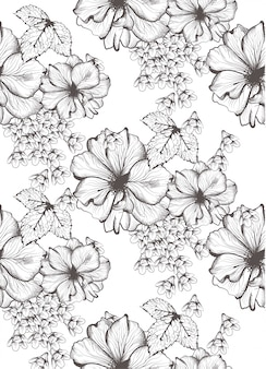 Beautiful flowers illustration
