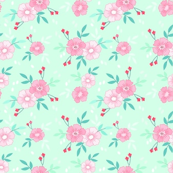 ヴィンテージ色のシームレスなパターンで美しい花。