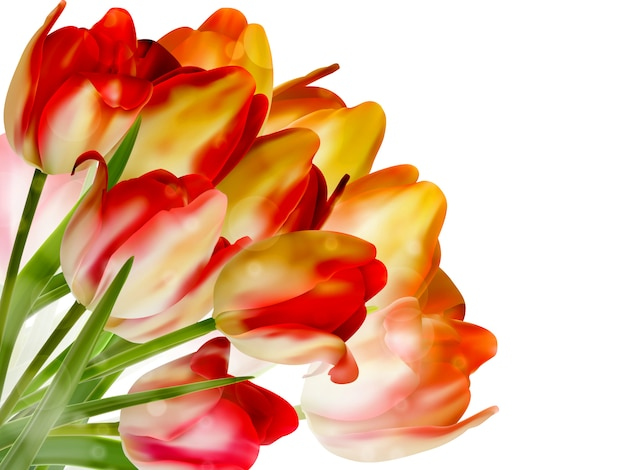Beautiful flowers made with color filters.