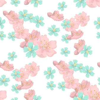 Beautiful flowers seamless patter