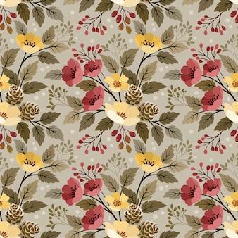 직물 섬유 벽지에 대 한 아름 다운 꽃 완벽 한 패턴입니다.