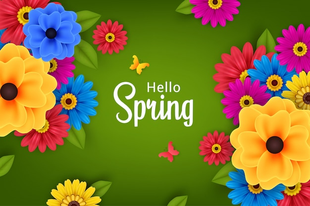 Beautiful flowers in spring